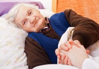 anciana en domicilio