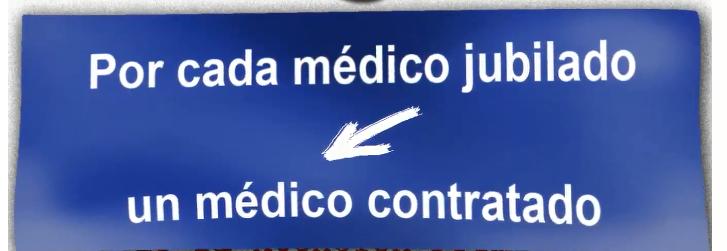 cartel medico jubilado